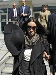 Casey Anthony leaves the federal courthouse in Tampa after a bankruptcy hearing yesterday.