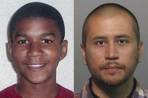 George Zimmerman, right, has been charged with murder in the shooting death of 17-year-old Trayvon Martin, left.