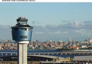 The new 233-foot tall air traffic control tower at New York's LaGuardia Airport is clad in Alcoa's lightweight, versatile Reynobond aluminum composite material panels.