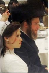 This Jan. 17, 2012, family photo, provided from VosIzNeias.com, shows Nachman and Raizy Glauber at their wedding.