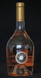 A bottle of Miraval, Cote de Provence rose wine is displayed in Paris, Thursday March 7, 2013.