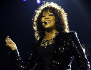 This 2010 file photo shows Whitney Houston performing in London.