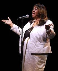 Aretha Franklin performs during A Tribute to Marvin Hamlisch, a memorial concert at The Juilliard School's Peter Jay Sharp Theater, Tuesday, Sept. 18, 2012 in New York.
