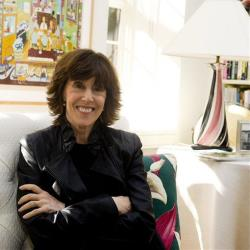 Nora Ephron poses for a photo at her home in New York, Wednesday, Nov. 3, 2010.