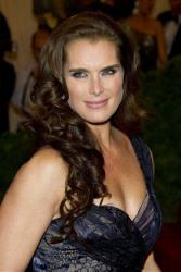 In this May 7, 2012 file photo, actress Brooke Shields arrives at the Metropolitan Museum of Art Costume Institute gala benefit.