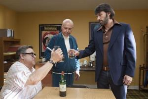 This publicity image released by Warner Bros. Pictures shows John Goodman, left, Alan Arkin, center, and actor-director Ben Affleck in a scene from Argo.