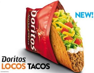 This undated image provided by Taco Bell shows an advertisement for Doritos Locos Tacos shells.