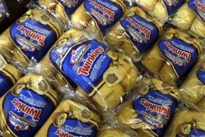 Twinkies baked goods are displayed for sale at the Hostess Brands' bakery in Denver, Colo.
