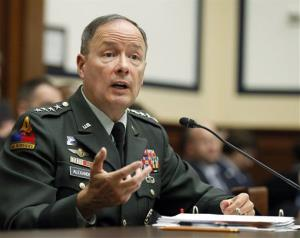 Gen. Keith B. Alexander, commander of the US Cyber Command, testifying on Capitol Hill on Sept. 23, 2010.