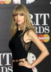 Taylor Swift seen arriving at the BRIT Awards 2013 at the o2 Arena in London on Wednesday, Feb. 20, 2013.