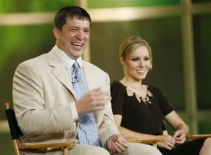 In this  2006 file photo, producer Rob Thomas, left, answers questions about the upcoming season of Veronica Mars as actress Kristen Bell looks on.