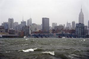 The New York City skyline and Hudson River are seen from Hoboken, NJ.