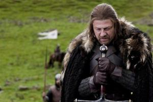 In this publicity image released by HBO, Sean Bean portrays Eddard Stark in a scene from the HBO series, Game of Thrones.