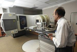 A linear accelerator used to treat cancer at a hospital in Johnstown, Pa., from Sept. 19, 2102.