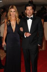 Patrick Dempsey and his wife Jillian Fink arrive at the Metropolitan Museum of Art Costume Institute gala, Monday, May 2, 2011 in New York.