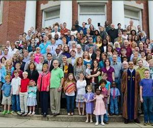 Parishioners are seen on the steps of the Green Street United Methodist Church in this photo from its website.