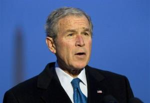 President George W. Bush is seen in the White House, 2008.