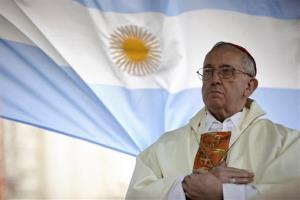 In this Aug. 7, 2009 photo, the then-Cardinal Jorge Bergoglio gives a Mass in Buenos Aires, Argentina.