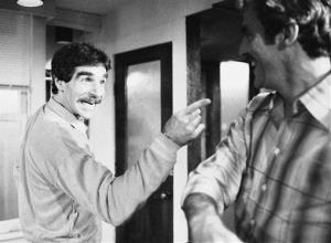 In this 1979 file photo, Harry Reems rehearses for his legitimate theater debut in an Off-Broadway comedy-drama, The Office Murders, in New York.