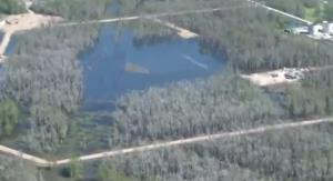YouTube screenshot of the Bayou Corne sinkhole.
