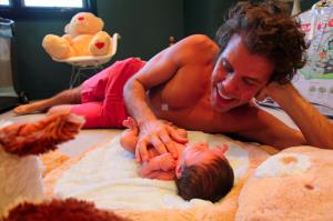Perez Hilton is shown with his son in a photo provided on his website.