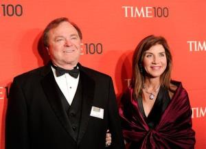 Continental Resources CEO Harold Hamm and his wife Sue Ann Hamm attend the TIME 100 gala at the Frederick P. Rose Hall on Tuesday, April 24, 2012 in New York.