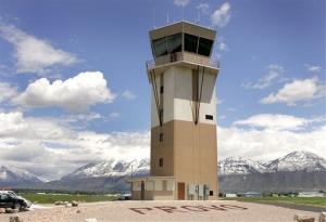 This May 17, 2005 photo shows the Provo Airport control tower  before it was operational in Provo, Utah.