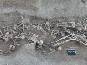 A mass grave of bubonic plague victims in Martigues, France.