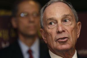 New York City Mayor Michael Bloomberg speaks during a news conference at Lucky's Cafe in New York, Tuesday, March 12, 2013.