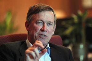 In this Dec. 12, 2012 file photo, Colorado Gov. John Hickenlooper speaks at his office in the Capitol in Denver.