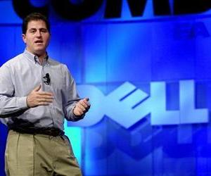 In this Monday, Nov. 13, 2000 photo, Michael Dell, Chairman and CEO of Dell, speaks during his keynote address at Comdex, in Las Vegas.