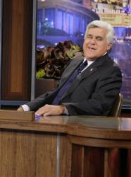 This Sept. 21, 2012 photo released by NBC shows Jay Leno, host of The Tonight Show with Jay Leno, on the set in Burbank, Calif.