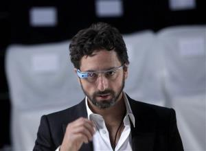 Google co-founder Sergey Brin wears Google Glass  speaks before the Diane Von Furstenberg Spring 2013 show during Fashion Week in New York, Sunday, Sept. 9, 2012.