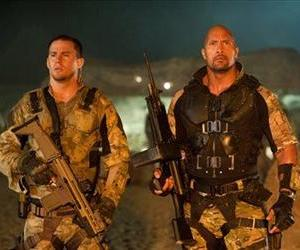 Channing Tatum, left, and Dwayne Johnson are shown in a scene from GI Joe: Retaliation.