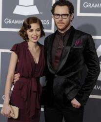Sean Parker, right, and guest arrive at the 53rd annual Grammy Awards on Sunday, Feb. 13, 2011, in Los Angeles.