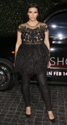 Kim Kardashian attends the Topshop Topman LA Opening Party At Cecconi's in Los Angeles, on Wednesday, Feb. 13, 2013.