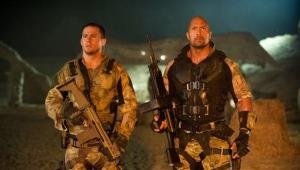 Channing Tatum, left, and Dwayne Johnson are shown in a scene from G.I. Joe: Retaliation.