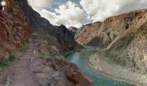 This image provided by Google Maps shows a view from the Grand Canyon and Colorado River in Oct. 2012 in Arizona.