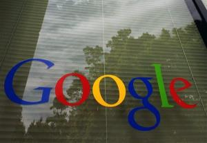 In this 2012 photo, a Google logo is displayed at the headquarters in Mountain View, Calif.