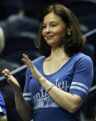 Ashley Judd watches a Kentucky basketball game on March 15.