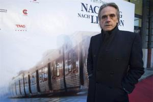 British actor Jeremy Irons poses on the Red Carpet at the premiere of the movie 'Night Train to Lisbon' in Bern, Switzerland, Thursday, Feb. 21, 2013.