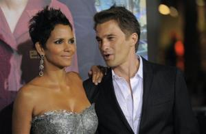 Halle Berry, a cast member in Cloud Atlas, poses with fiance Olivier Martinez at the premiere of the film at Grauman's Chinese Theatre on Oct. 24, 2012, in Los Angeles.