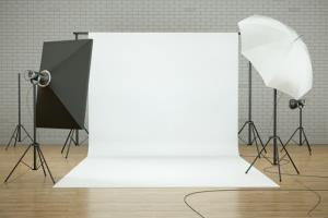 Stock image of a photo studio.