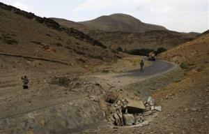Pierre Borghi reached a checkpoint in central Wardak province.