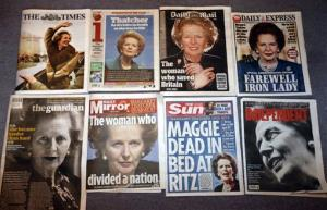 The front pages of today's British newspapers.