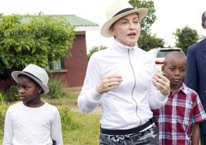 Madonna tours the Mphandura orpahange near Lilongwe, Malawi, Friday, April 5, 2013.