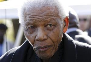 Former South African President Nelson Mandela in 2010.