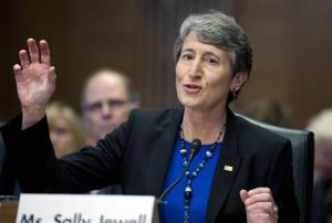 Sally Jewell testifies on Capitol Hill last month. She will be the new interior secretary.