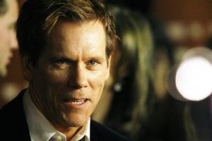 Kevin Bacon attends the premiere of The Following at the New York Public Library on Jan. 18, 2013.