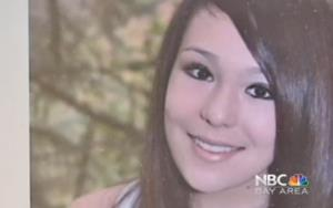 A screen grab of Audrie Potts from NBC Bay Area video.